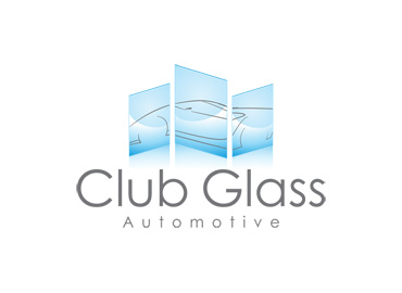 Criação de marca Club Glass Automotive.