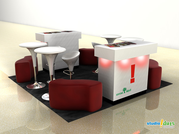 Modelo de stand 3D para shopping center
